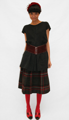 Vintage tartan skirt donated by Eliza  suede belt  hat and pumps from eBay     It must be approaching Sunday 2pm in Sydney  Will you be going   a href  http   theuniformprojectblog com annoucements u p party in oz   b U P party in Sydney    b   a  br   a href  http   www facebook com event php eid 102788099757723 index 1   b See facebook event    b    a