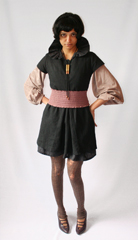 or Amidala Chic  as per Slim  Iwona Ludgya collared tunic layered with a vintage bubble blouse  wornout wool leggins from  A HREF  http   www shopjumelle com   target  _blank  Jumelle  A  and cinch belt donated by Cat