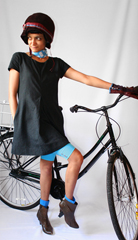 Reflective and sustainable cycling helmet and gloves designed by Scully  See prototype of the full line at  a href  http   scullynewyork com  target  _blank  scullynewyork com  a  Vintage ankle boots from eBay  Summer scarf from a brooklyn thrift store  br  br   F licitations  Se or Contador  Vive le Tour de France